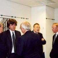 V.l.n.r. de Hoogewerff-Fonds bestuursleden prof.ir. C.M. van den Bleek, prof.dr.ir. G.F. Versteeg, dr. A.J.H. Nollet, prof.dr.ir. J. de Graauw en prof.dr.ir. H. de Waal.