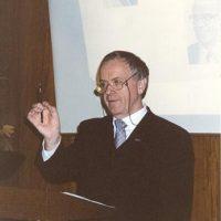 Prof.dr.ir. W.P.M. van Swaaij tijdens zijn voordracht.