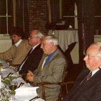 Enkele (oud-)bestuursleden van het Hoogewerff-Fonds, v.l.n.r. prof.dr.ir. G.F. Versteeg, prof.drs. P.J. van den Berg, prof.ir. W. Herman de Groot, prof.dr.ir. D. Thoenes.